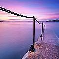 Sunset At Sea by Stewart Hardy