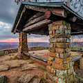 Sunset At White Rock Mountain National Recreation Area Scenic Overlook by Gregory Ballos