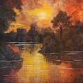 Sunset By The Lake by Manar Hawsawi