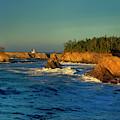 Sunset Cape Arago Lighthouose Oregon Coast by Dave Welling