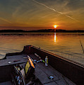 Sunset Fishing Dog Lake by Joe Holley