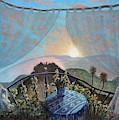Sunset From Seborga by Linda Mccluskey
