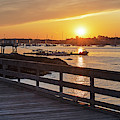 Sunset From The Salem Willows Pier Salem Ma by Toby McGuire