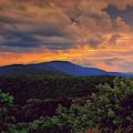 Sunset Hogback Mountain On Shenandoah National Park's Appalachian Trail by Raymond Salani III