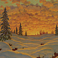 Sunset In Finland  by Ivan Fedorovich Choultse
