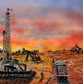 Sunset In Oil Country by Barry Jones