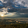 Sunset In Shenandoah National Park Seen From Blackrock Peak by William Dickman