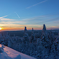 sunset in the Harz National Park, Germany by Andreas Levi