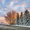 Sunset In Winter by Viktor Birkus