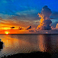 Sunset On Cudjoe Bay 8584 by Eddie Rosdhal