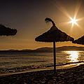 Sunset On The Beach, Mallorca, Spain by Lyl Dil Creations