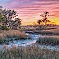Sunset Over Chisolm Island by Scott Hansen