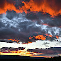 Sunset Over Grand Junction Colorado by Ray Mathis