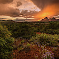 Sunset Over The Mountains by Rick Strobaugh