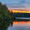 Sunset Reflections At Price Lake  by Michael Ver Sprill