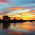 Sunset Reflections Over Sinepuxent Bay by Michael Ver Sprill