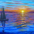 Sunset Sail by Amelie Simmons