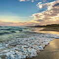 Sunset Waves In Montauk by Alissa Beth Photography