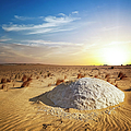 Sunset White Desert by Cinoby