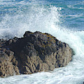 Surf On Rocks by Victor Lord Denovan