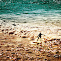 Surfing Silhouette by Christi Kraft