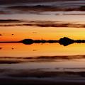 Surreal Sunset Salar De Uyuni Bolivia by James Brunker