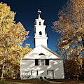 Sutton Meeting House Surrounded By Golden Fall Foliage by Jeff Folger