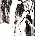 Swans After Mikhail Larionov Black Oil Painting 5 by Edgeworth DotBlog