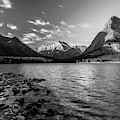 Swiftcurrent Lake In Bw by Todd Klassy