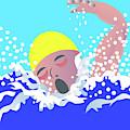 Swimmer by David Pryke