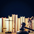 Symbols Of Law - Scale, Hammer And Themis by Michal Bednarek