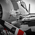 T-28b Trojan In Selective Color by Doug Camara