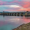 Table Rock Lake Dam At Sunrise - Branson Missouri by Gregory Ballos