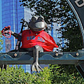 Tadpole Playground From Statue In A Red Sox Jersey Boston Common Boston Ma 2018 by Toby McGuire