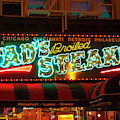 Tads Steaks Sign by Bonnie Follett