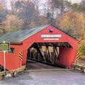 Taftsville Covered Bridge Vermont by Joann Vitali