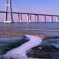Tagus River And Vasco Da Gama Bridge by Philip Preston