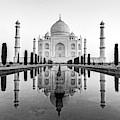 Taj Mahal In Black And White by Ian Robert Knight