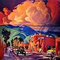 Taos Inn Monsoon by Art West