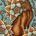 Tapestry Cat by Amy E Fraser