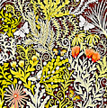 Tapestry Design With Autumn Colors And White Butterflies by Lise Winne