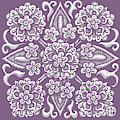 Tapestry Square 19 Hothouse Orchid by Amy E Fraser