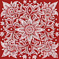 Tapestry Square 21 Cherry Red by Amy E Fraser