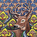 Tapestry Stag by Amy E Fraser