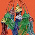 Tassel Baubles Orange by Cecely Bloom