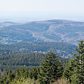 Taunus View From Feldberg In Hessen, Germany by Les Palenik