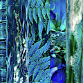 Teal Abstract by Cindy Greenstein