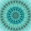 Teal Bohemian Mandala by Sheila Wenzel
