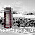 Telephone Box Snow - Happy Christmas II by Helen Northcott