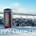 Telephone Box Snow - Happy Christmas IIi by Helen Northcott